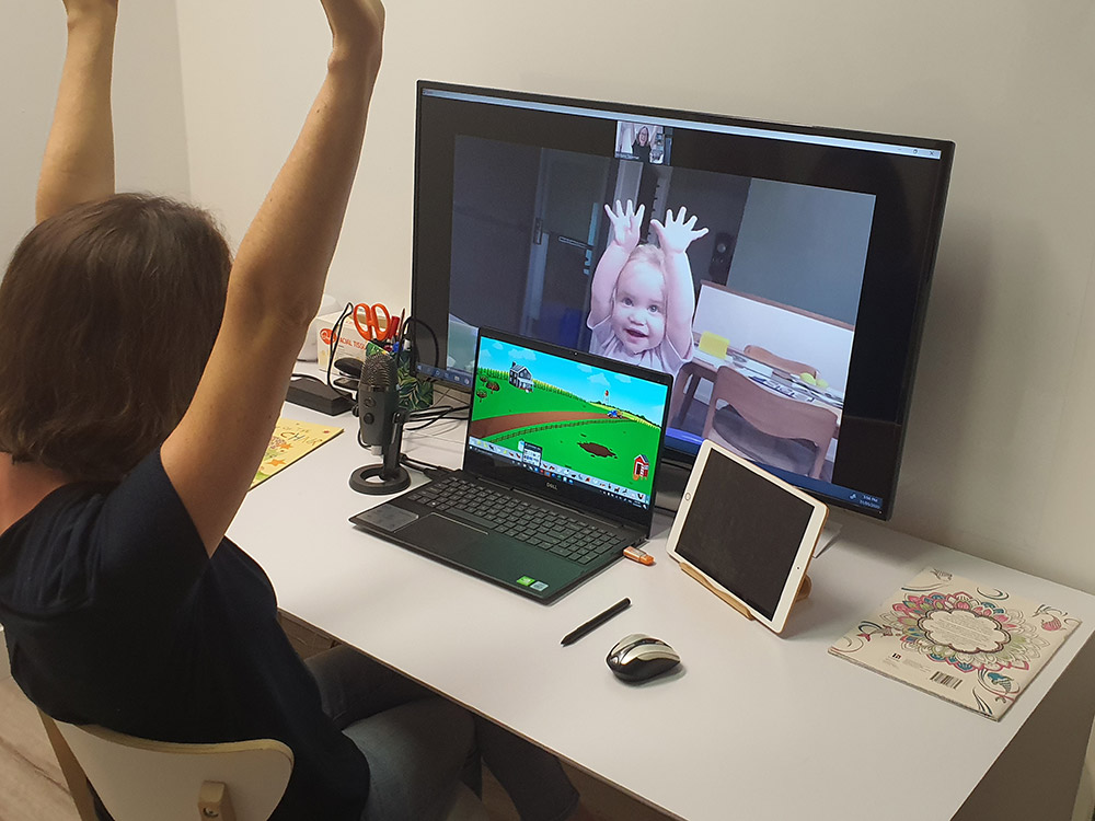 video conferencing with baby